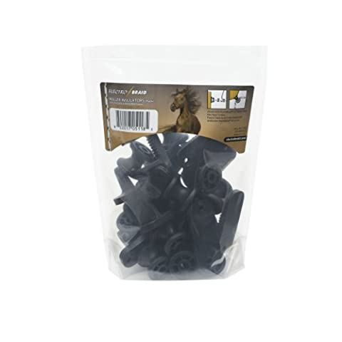 ElectroBraid IROLLB10-EB Electric Fence Roller Post Black Insulators (Pack of 10)