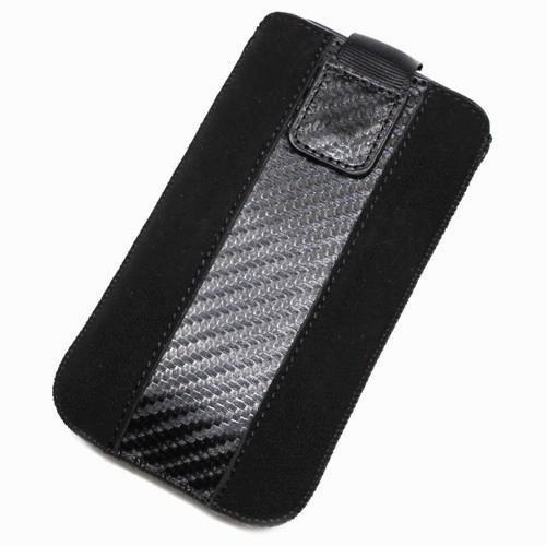 Schutzhülle Tasche XL Nubuk-Optik für Samsung Galaxy Trend Lite S7390