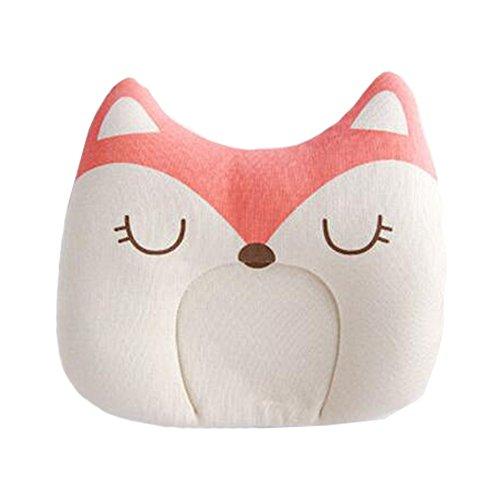 Mutterschaft Schlaf Kissen (Baby-Schlaf-Kissen für neugeborene Baumwolle verhindern flache Kopf-Baby-Kissen nettes Kissen entzückend,Fuchs)