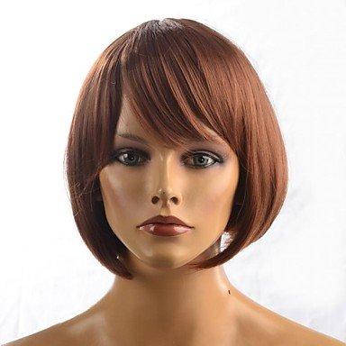 Js-wigs synthétique Perruque de cheveux synthétiques pour femme Marron