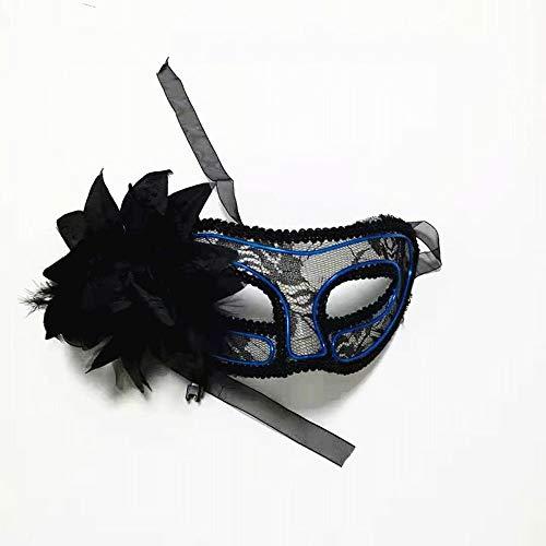 JFSKD Halloween Maske LED Prinzessin Maskerade Maske Halloween Karneval Party Kostüm Cosplay Dekoration,Blue (Prinzessin Make-up Halloween Zombie)