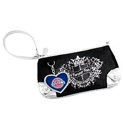 NBA Detroit Pistons Sport Luxe Fan Wristlet