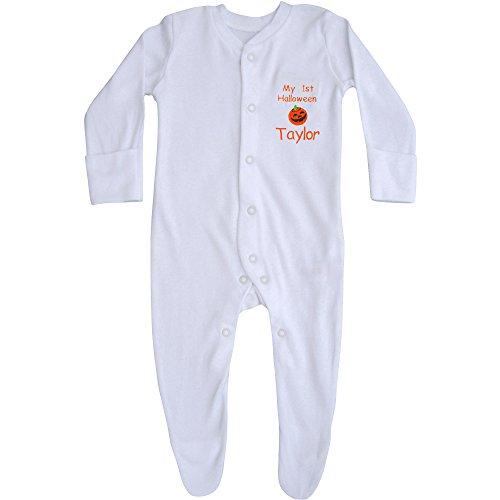 TeddyT's Baby Jungen (0-24 Monate) Body weiß Sleepsuit 0-3 (Zeichen Ideen Halloween)