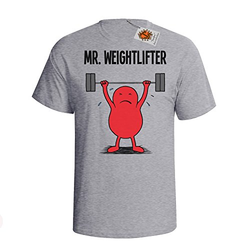 `Mr Weightlifter` mens herren Hobbies / Berufe perfect Weightlifting gift t s... Grau