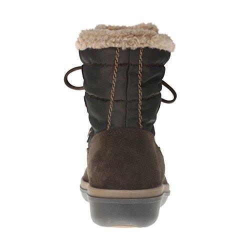 tessamino Damen Stiefelette aus Tex-Membran und echtem Leder, Weite H Braun
