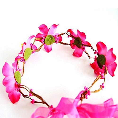 Kfang-headbands, Mode Design Simulation Blume Stirnband Für Mädchen Und Frauen Haarschmuck Hübsche Haarbänder Für Frauen Mädchen Headwear Bandeau Cheveux (Color : Hot Pink)