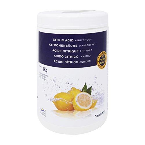 Zitronensäure 1 Kg; 1,15 Kg; 2x1,15 Kg; 4x1,15 Kg, reine Premiumqualität, Wasserfrei Pulver, NortemBio für ökologischen Produktion