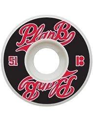 Plan B Past Time Jeu de 4 Roues Mixte Adulte, Multicolore, 51 mm