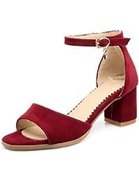 00da102e Sandalias De Tacon Alto,Mujer Alto Talón, Flatforms, Plataforma Verano  Cinturón Correa Zapatos