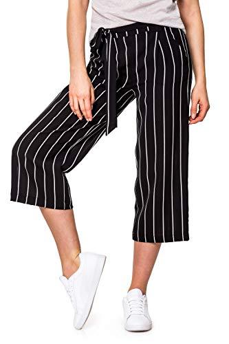 ONLY Damen Culotte Hose 3/4 Hose mit weitem Bein Palazzohose (M, Colour 1) (Shorts Damen Culotte)