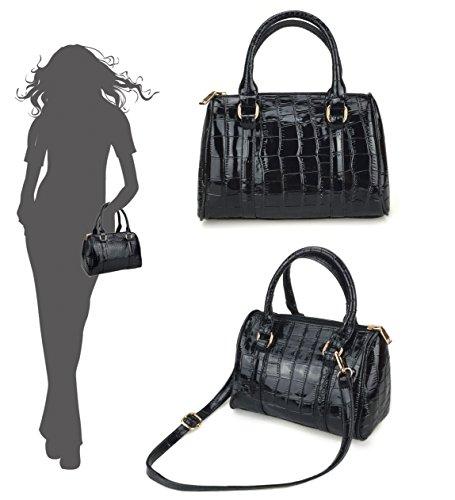 Hoxis ,  Damen Tasche , Beige - Snake Pattern - Größe: schwarz