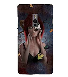 For OnePlus 2 :: OnePlus Two :: One +2 autumn, girl, cute girl Designer Printed High Quality Smooth Matte Protective Mobile Pouch Back Case Cover by BUZZWORLD