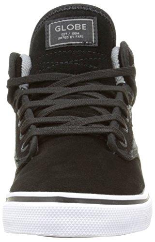 Globe Motley Unisex-Erwachsene Hohe Sneakers Noir (Black Suede/Woven)