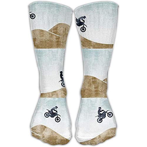 Motocross Dirt Bike Crew Sockens Compression Sockens Warm Winter Sockens One Size for Women(30cm)