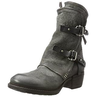 A.S.98 Damen Corn 17 Biker Boots, Grau Nebbia/Nero, 40 EU