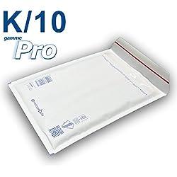 Lot de 10 enveloppes à bulles blanches gamme PRO K/10 format 340x470mm