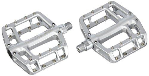 NC-17 Sudpin I Pro Aluminium Plattform Pedale / Fahrrad Pedale MTB / Mountainbike Pedal / BMX Pedal / Kugellager + Cr-Mo Achse / inklusiv Ersatzpins, Silber (Fahrrad Pedale Ersatz)