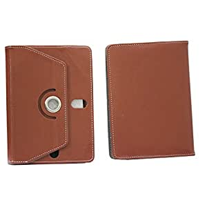 BRAIN FREEZER 7INCH ROTATING FLIP FLAP CASE COVER POUCH CARRY FOR HCL ME V1 TABLET BROWN