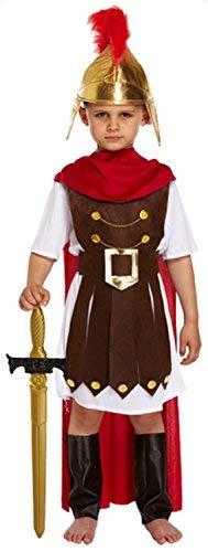 Fancy Me Jungen 4 Stück Römische Soldat Gladiator Historisch Kleid Kostüm Schuhe 4-12 Jahre - Multi, 7-9 Years