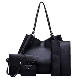 4 Pcs Sets Bag,Women Handbag Fashion Four Sets Bag Women Leather Handbags Crossbody Bags/Messenger Bag Coin Purse/Card Holders