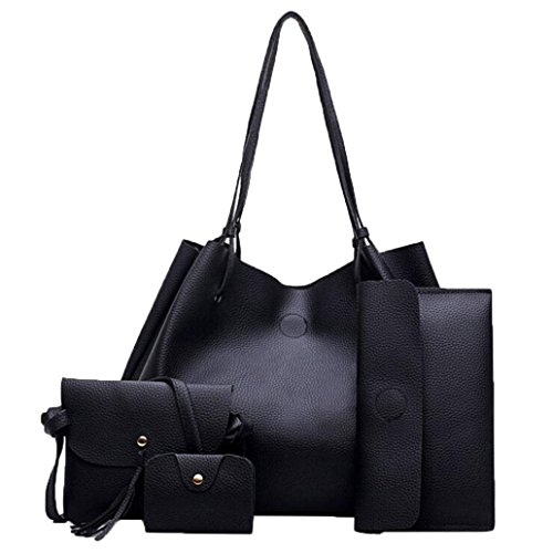 - 41NM29AdJkL - 4 Pcs Sets Bag,Women Handbag Fashion Four Sets Bag Women Leather Handbags Crossbody Bags/Messenger Bag Coin Purse/Card Holders