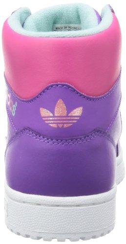 adidas Pro Play G96038 Mädchen Sneaker Violett (Running White Ftw/Ray Purple F13/Blast Pink F13)
