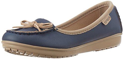 Crocs Wrap Colorlite Balletto Piatto Damen Ballerinas Blau (navy / Tumbleweed)