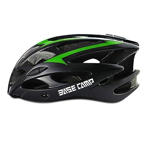 210g Ultra léger - Casque de vélo d'air de qualité supérieure spécialisé dans le vélo de route et de montagne - Casques certifiés de sécurité pour hommes et femmes adultes, garçons et filles - Protection de sécurité confortable, légère et respirante ( Color : Dark green )