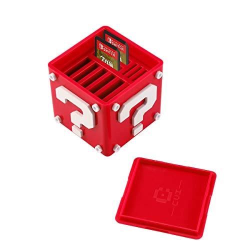 MOGOI Tarjeta de Juego pequeño Caso, Titular de la Tarjeta de Juego con 8 Ranuras de Tarjeta de Juego y 4 titulares de Tarjeta Micro SD para Nintendo Interruptor