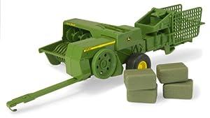 Big Farm - Embaladora Cuadrada John Deere con 4 Balas (Tomy 45220M6)