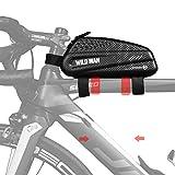 BWBIKE Borsa portabici per bicicletta Borsa portabici per bicicletta 1L Borsa per bici da montagna nera Borsa da bicicletta