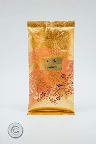 Grüner tee Gyokuro Premium. Gyokuro Tee, japanische Delikatesse aus Yame. Grüner Tee Gyokuro von intensivem Aroma, verpackt in der Plantage und präsentiert in Beuteln aus Reispapier und Seide zu 100 g