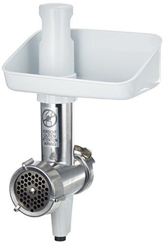 Bosch MUZ4FW3 Fleischwolf (passend für Bosch Küchenmaschinen MUM4, 1kg pro Minute, Alu) silber/weiß