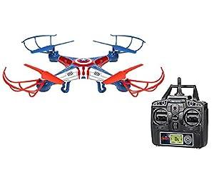 World Tech Toys-Marvel Captain America Sky Hero 2.4GHz 4.5CH Radio Control Drone, 33736