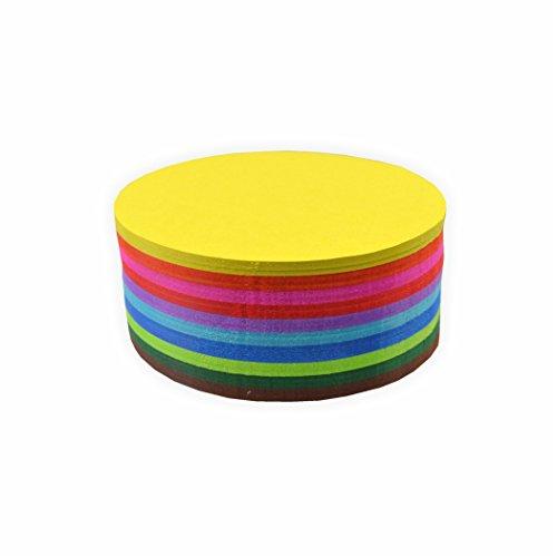 Creleo 792402 Faltblätter 70g/m², 15cm rund 500 Blatt, farbig sortiert hochwertiges Faltpapier für Origami und kreative Bastelprojekte Runde Blätter