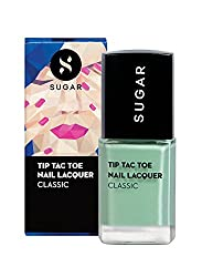 SUGAR Cosmetics Tip Tac Toe Nail Lacquer 063 Mint Money (Pastel Green), 10 ml