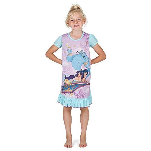 Disney Princess & Tv Character Mädchen Nachthemd Mit König Der Löwen, Aladdin, Cinderella, Paw Patrol, Little Mermaid   Kindernachtwäsche Mit Prinzessinnen (5/6 Jahre, Aladdin) (Disney Mädchen Kleidung 5 Größe)