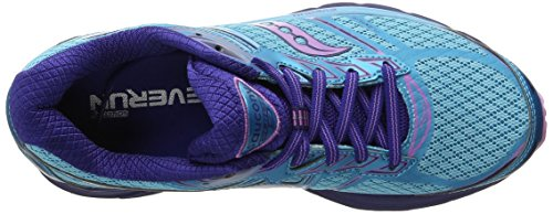 Saucony Guide 9 W, Chaussures de course femme Blue/Purple/Pink