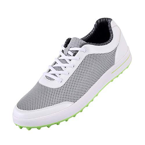 Sneaker da Golf da Uomo, Scarpe da Golf in Mesh Ultraleggera e Traspirante Senza Chiodi, Scarpe da Allenamento da Trekking Comode e Antiscivolo