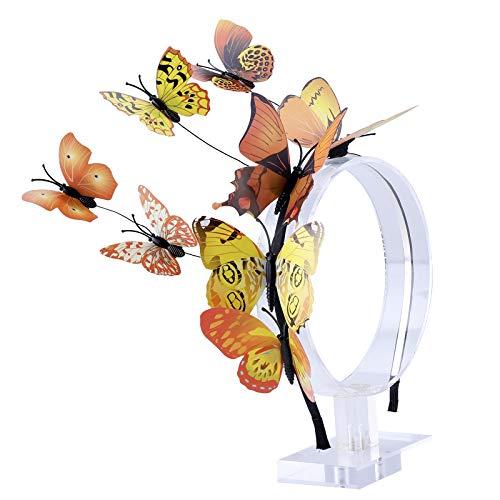 s Stirnband für Damen Mädchen Schmetterlings Haarband Fee Kostüm Kopfschmuck Party Festival schickes Fee Stirnband (Gelb) ()