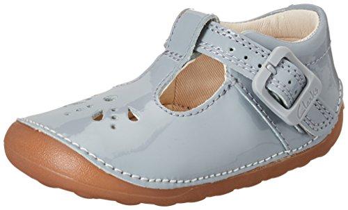 Clarks Baby Mädchen Little Weave Krabbel-& Hausschuhe, Grau (Grey Patent), 21 EU