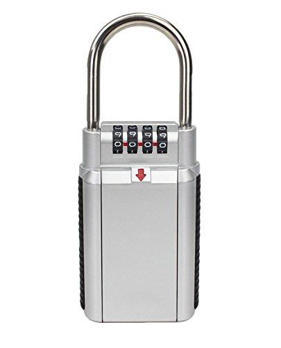 Fanshop Schlüssel, Aufbewahrung Key Lock Box Safe Kombination padlock-door für Realtor Außeneinsatz (Key Storage Lock-boxen)