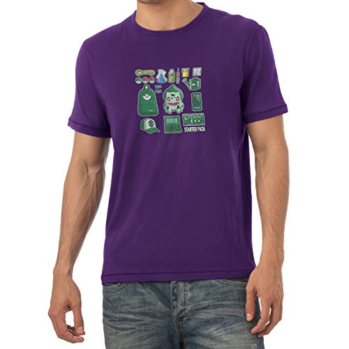 TEXLAB - Green Poke Pack - Herren T-Shirt Violett