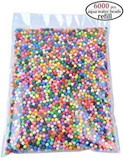 Aqua Fuse Perlen, Nachfüllset, kompatibel mit Aquabeads und Beados Wasserperlen, ungiftig, sicheres Kunst-Handwerk, Spielzeug für Kinder, Handmachen von Stem (Beados Perlen)