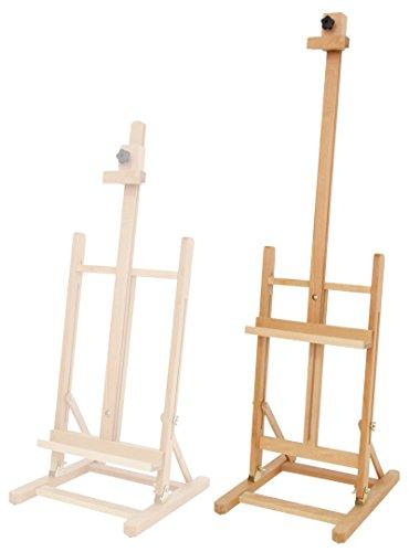 T70 Kinderstaffelei oder große Tischstaffelei, aus Buchenholz FSC für Leinwand Keilrahmen, Sitzstaffelei