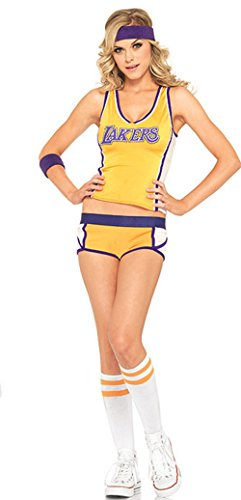 Babyicon Damen Cheerleader Kostüme Fußball Aerobic Sports Anzüge Outfit Uniform (Gelb)