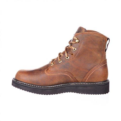 FB Fashion Boots Georgia Boot GB00124 M Waterproof Wedge Brown/Herren Schnürstiefel Braun/Work Boots/Wasserdichter Stiefel Brown (Weite M)