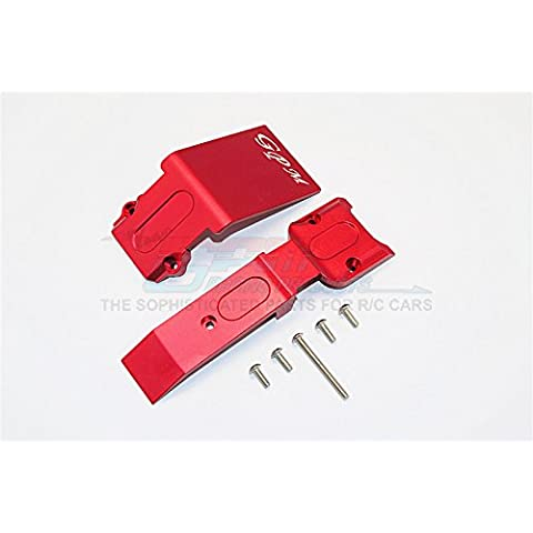 Traxxas E-Revo Brushless Edition Upgrade Parts Aluminium Front Skid Plate - 2Pcs Set Red