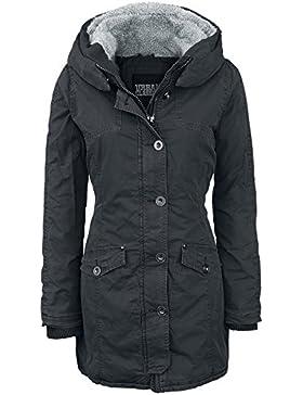 Urban Classics Jacke Garment Washed Long Parka-Chaqueta Mujer