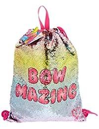 594de8e5a079 JoJo Siwa Bow Mazing Reverse Sequin Drawstring Pink Backpack